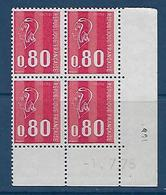 """FR Coins Datés YT 1816 """" Béquet 80c. Rouge """" Neuf** Du 1.7.75 - Coins Datés"""