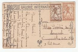 SHS Slovenia Chainbreakers Verigari Stamps On J. Révész: Resignation Postcard Travelled 1920 Osijek To Zagreb B190415 - Slovénie