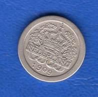 5 Cents  1909  La  Rare - [ 3] 1815-… : Kingdom Of The Netherlands