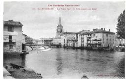 Saint-Girons (Ariège) Vue Générale + Rive Droite Du Salat     LES 2 CARTES - Saint Girons