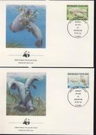 WWF 4 FDC 1984 TOGO VEAU DE MER  YVERT N°1151/52-A515/16 - FDC
