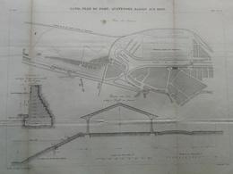 ANNALES DES PONTS Et CHAUSSEES (Belgique) - Plan De Gand - Le Port - E.Pérot - 1882 (CLD80) - Cartes Marines
