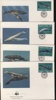 WWF 4 FDC  1983 PALAU BALEINES  YVERT N°15/18 - FDC