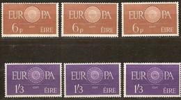 Irlande Ireland 1960 CEPT  Yvertn° 146-147 *** MNH Cote 150,00 Euro 3 Séries - 1949-... République D'Irlande