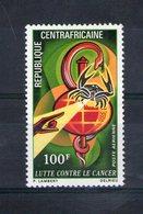 Centrafrique. Poste Aérienne. Lutte Contre Le Cancer - Centrafricaine (République)