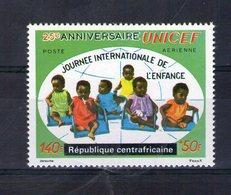 Centrafrique. Poste Aérienne. 25eme Anniversaire De L'UNICEF - Centrafricaine (République)