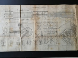 ANNALES DES PONTS Et CHAUSSEES (Dep 35) - Plan Du Pont Tournant Du Pollet - Macquet - 1891 (CLD83) - Cartes Marines