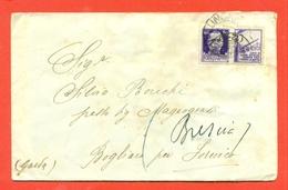 PROPAGANDA DI GUERRA- 50 CENT-  LETTERA PER BOGLIACO-- -25/8/1943 - 1900-44 Vittorio Emanuele III