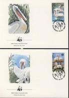 WWF  4 FDC 1984  ROUMANIE PELICAN  YVERT N°3543/46 - FDC