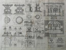 ANNALES DES PONTS Et CHAUSSEES (Dep 35) - Plan Du Pont Tournant Du Pollet - Macquet - 1891 (CLD84) - Travaux Publics