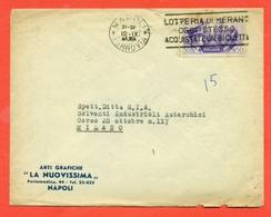 FRATELLANZA ITALO TEDESCA - 50 CENT- - LETTERA DA NAPOLI PER MILANO - 10/9/1941 - PUBBLICITARIE ARTI GRAFICHE LA NUOVISS - Storia Postale
