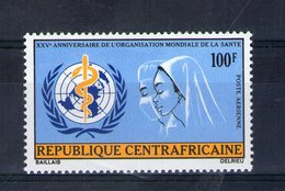 Centrafrique. Poste Aérienne. 25eme Anniversaire De L'OMS - Centrafricaine (République)