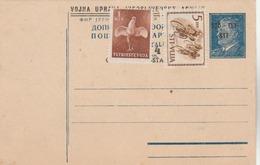 """Entier (neuf Surchargé ) + Complément D'affranchissement """"Trieste Vuja"""". - Postal Stationery"""