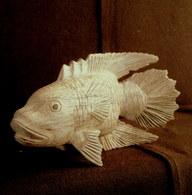 Sculpture POISSON (2) Perche (?) Fish Fishing Fisch Fischerei Peche Déco Bois Decoration ! - Wood