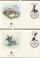 WWF 4 FDC 1988 ILES VIERGES PELICANS  YVERT N°614/17 - FDC