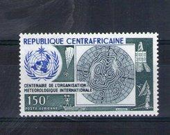 Centrafrique. Poste Aérienne. Centenaire De L'organisation Météorologique Mondiale - Centrafricaine (République)