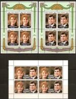 Cook Islands 1986 Yvertn° 864-866  *** MNH Cote 48,00 Euro Prince Andrew Sarah Ferguson Feuillets Complètes - Cook