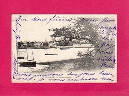 29 Finistère, Bénodet, Vu De Sainte-Marine, Quais, Bateaux De Pêche, 1901, (Villard) - Bénodet