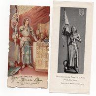 SAINTE JEANNE D ARC    2  IMAGES RELIGIEUSES ANCIENNES - Images Religieuses
