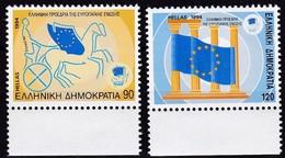 Griechenland, 1994, 18554/55, Vorsitz Griechenlands In Der Europäischen Union. MNH **, - Neufs