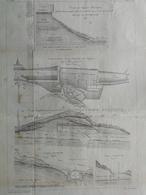 ANNALES DES PONTS Et CHAUSSEES (dep 12) -  Travaux De Consolidation Et De Drainage - 1889 - Macquet (CLD91) - Zeekaarten