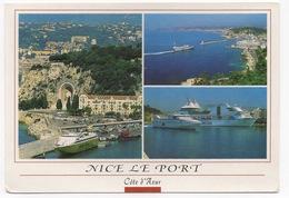 CPSM  06 NICE  Le Port Diverses Vues : Côté Ville, Vue D'ensemble Et Les Bateaux - Navigazione – Porto