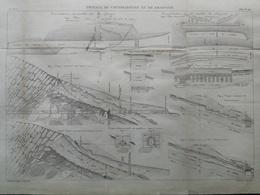 ANNALES DES PONTS Et CHAUSSEES -  Travaux De Consolidation Et De Drainage - 1889 - Macquet (CLD92) - Zeekaarten