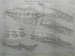 ANNALES DES PONTS Et CHAUSSEES -  Travaux De Consolidation Et De Drainage - 1889 - Macquet (CLD93) - Zeekaarten