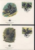 WWF  4 FDC 1985 RWANDA GORILLES  YVERT N°1173/76 - FDC