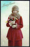 FEMME - CP - Jeune Femme Avec Chapeau Et Bouquet De Fleurs - Circulé - Circulated - Gelaufen - 1923. - Femmes
