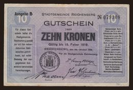 Czechoslovakia - 10 Kronen 1918 Liberec VF - Tchécoslovaquie
