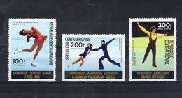 Centrafrique. Poste Aérienne. Vainqueurs Des Jeux Olympiques D'hiver - Centrafricaine (République)