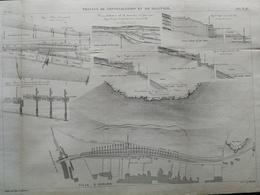 ANNALES DES PONTS Et CHAUSSEES (Dep 25) -  Travaux De Consolidation Et De Drainage - 1889 - Macquet (CLD94) - Travaux Publics