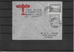 RWANDA-URUNDI 1939 Ffc Usumbura -Kikwit Via Stanleyville (ref 976) - 1924-44: Lettres