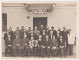 ROMENTINO (NOVARA) -FOTO ORIGINALE MOTO CLUB (50119) - Persone Identificate