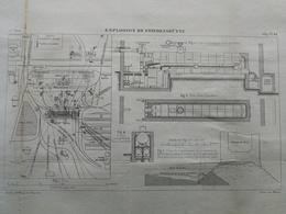 ANNALES DES PONTS Et CHAUSSEES - Explosion De Friendenshütte - 1889 - Macquet (CLD96) - Technical Plans