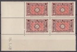 N° 317 En Bloc De 4 Coin Daté 15/01/48 - X X - ( C 560 ) - Neufs