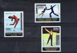 Centrafrique. Poste Aérienne. Vainqueurs Des Jeux Olympiques D'hiver Surchargés - Centrafricaine (République)