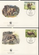 WWF  4 FDC 1988 GABON ELEPHANTS  YVERT N°640/43 - FDC