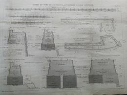 ANNALES DES PONTS Et CHAUSSEES (Dep 17) - Jetées Du Port De La Pallice - 1889 - Macquet (CLD98) - Public Works