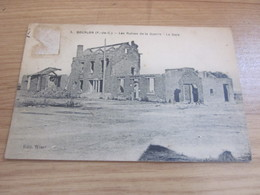 CP  Bourlon Les Ruines De La Guerre La Gare - France