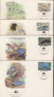 WWWF 4 FDC 1984 GRENADA POISSONS  YVERT N°1147/50 - FDC