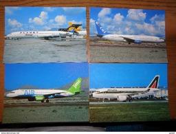 75 Kaarten Met VLIEGTUIGEN - AVIONS - AIRPLANES (zie Foto's) - Cartes Postales