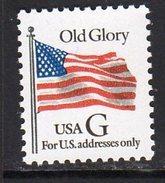 USA 1994 No Value Expressed G Old Glory Sheet Stamp, Black G, MNH (SG 2986) - United States