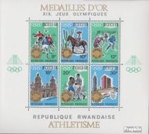 Ruanda Block15 (kompl.Ausg.) Postfrisch 1968 Olympische Sommerspiele - Ruanda