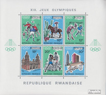 Ruanda Block13A (kompl.Ausg.) Postfrisch 1968 Olympische Sommerspiele Mexiko - Ruanda