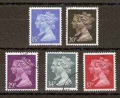Grande-Bretagne 1990 - Elizabeth & Victoria - Série Complète De 5° - 1434/8 - 1952-.... (Elizabeth II)