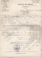 Militaire - Dreux - Feuille De Route Officier - Avril 1880 - Trajet Dreux/Paris - Régt Territorial D'infanterie - Titres De Transport