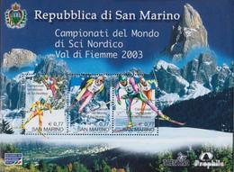 San Marino Block32 (kompl.Ausg.) Postfrisch 2003 Nordische Ski-WM - San Marino