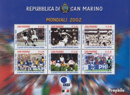 San Marino Block29 (kompl.Ausg.) Postfrisch 2002 Fußball WM'02 Japan - San Marino